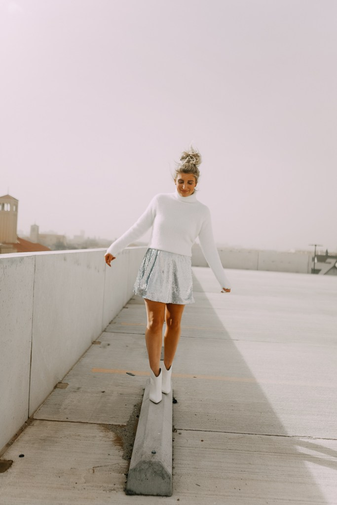 New years outfit | Sparkly NYE Outfit Ideas featured by top Texas fashion blogger Audrey Madison Stowe