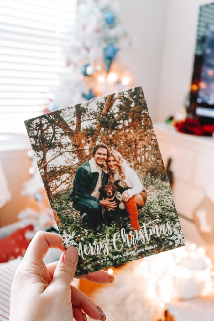Holiday's Cards with Snapfish | Our Christmas Card | Audrey Madison Stowe a fashion and lifestyle blogger | Snapfish Christmas cards featured by top Texas life and style blogger, Audrey Madison Stowe