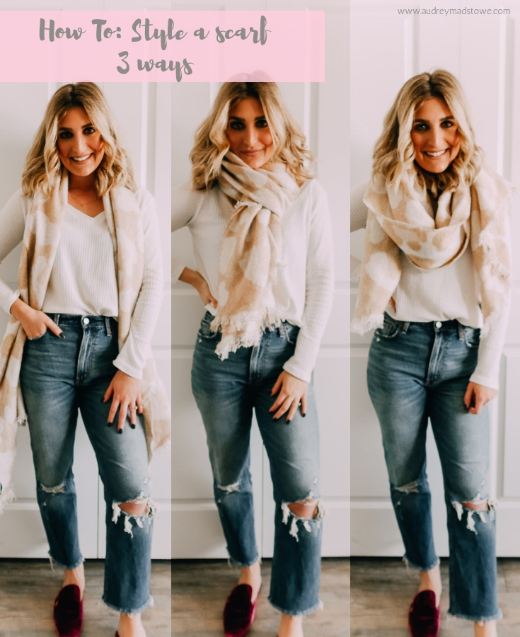 Abercrombie & Fitch | Express | Back to Basics: How To Wear A Scarf 3 Ways | featured by top Texas fashion blogger Audrey Madison Stowe