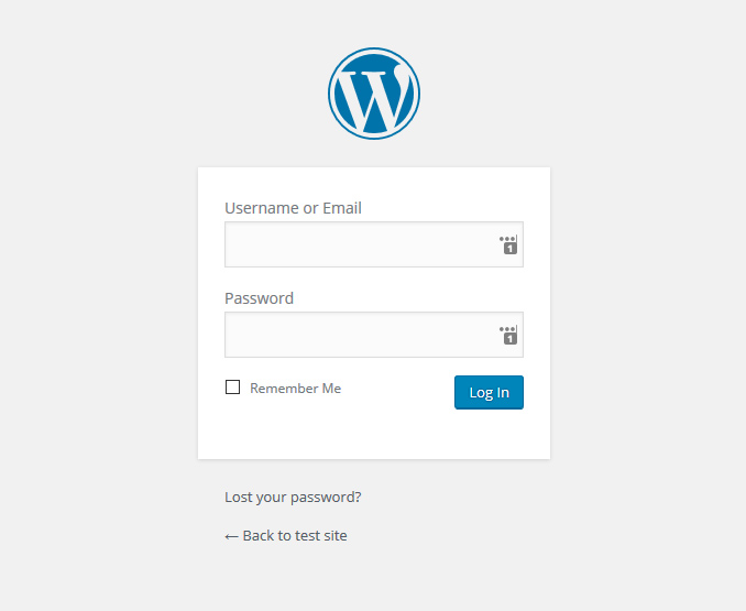 wordpress-login-recording-artist