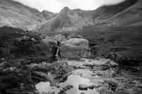 Walking to the fairy pools