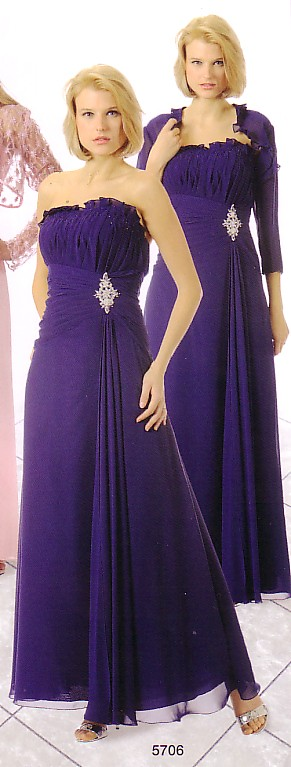 Poly Fashions 5706 Mother of the Bride Dress