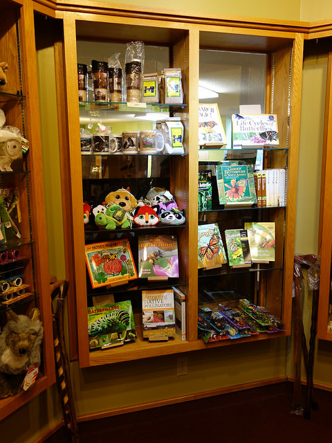 A variety of gifts can be found in the shop.
