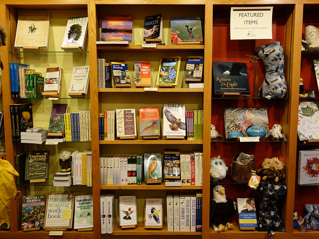 You can find a range of nature related books and field guides in the Gift Shop, included books for children and beginners.