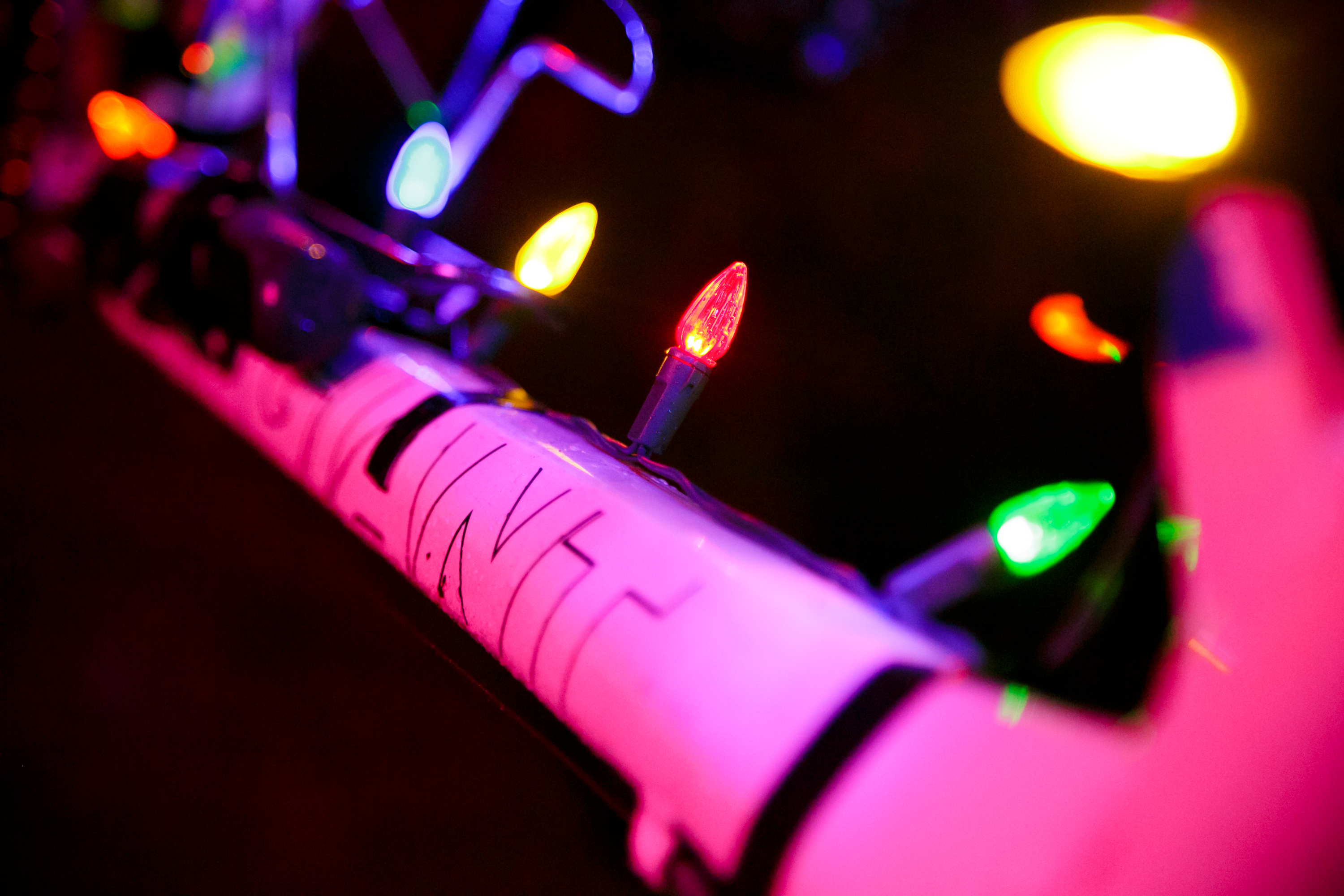 christmas decorations on bike