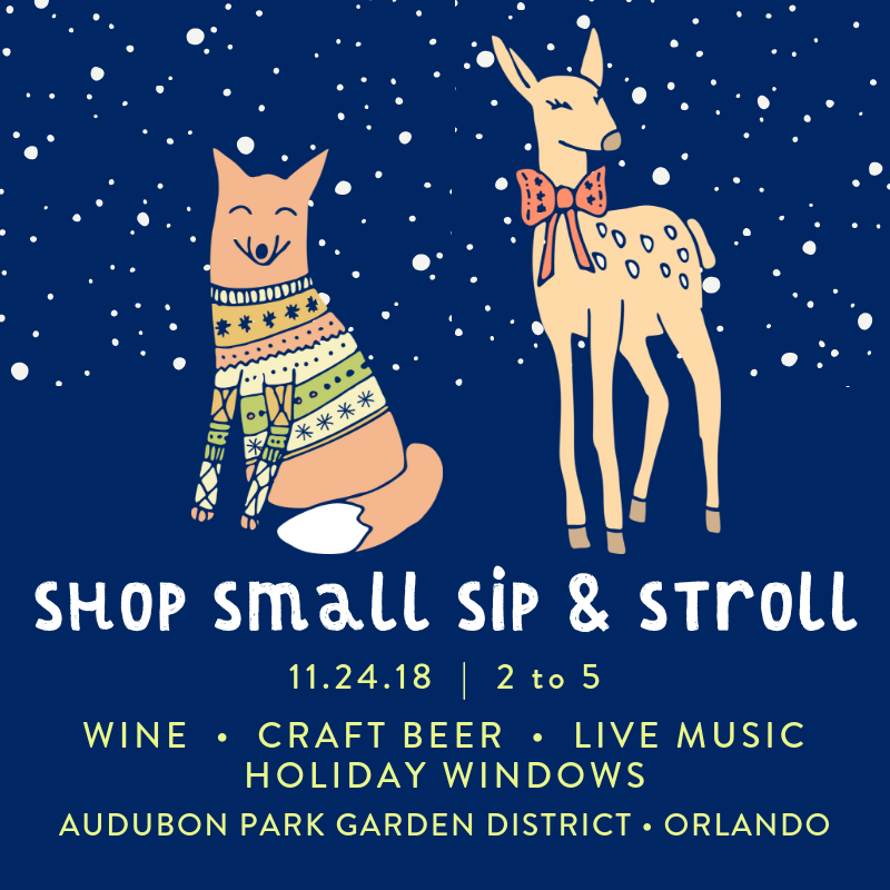 Shop Small Sip and Stroll in the Audubon Park Garden District