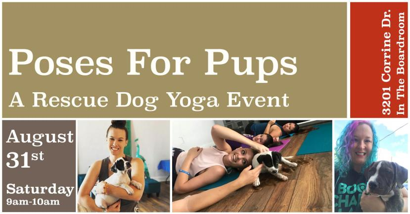 poses for pups yoga class at East End