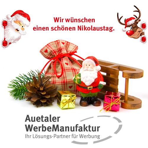 Die Auetaler WerbeManufaktur wünscht einen schönen Nikolaustag.