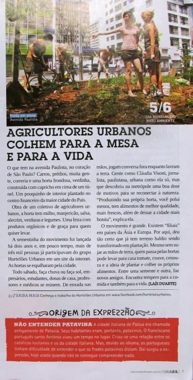Agricultores urbanos em São Paulo