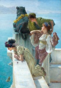 Sir Lawrence Alma-Tadema, A Coign Of Vantage, 1895, Sammlung von Ann und Gordon Getty