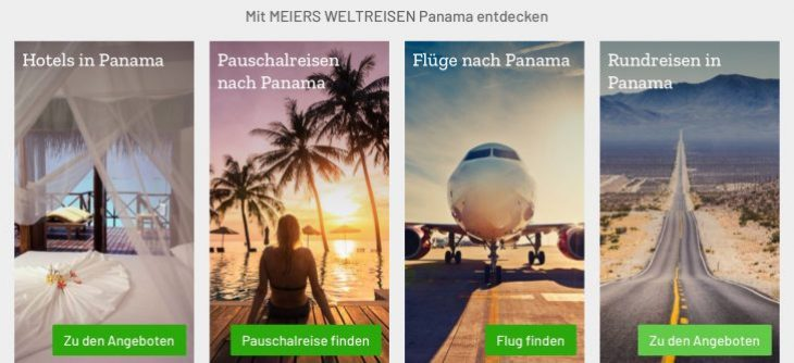 Reiseangebote nach Panama finden