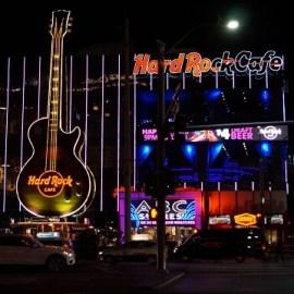 Bunte Lichter in Las Vegas