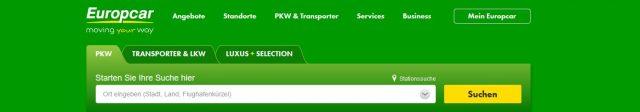 Bis zu 25 % Rabatt bei Europcar mit dem Sommerangebot