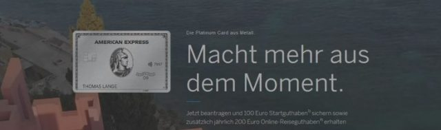 Wahnsinn: American Express Platinum Card – 50.000 Punkte erhalten – nur noch heute!