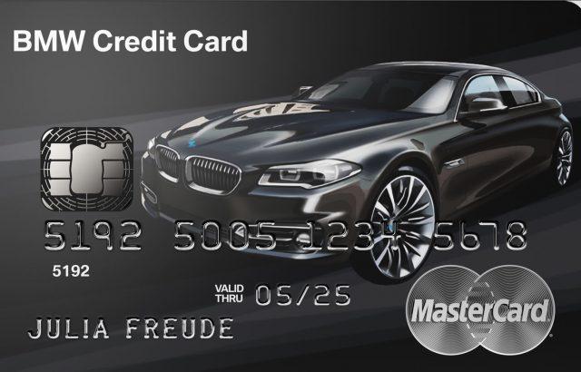 BMW Kreditkarte – die Kreditkarte wird nach dem Auto ausgewählt