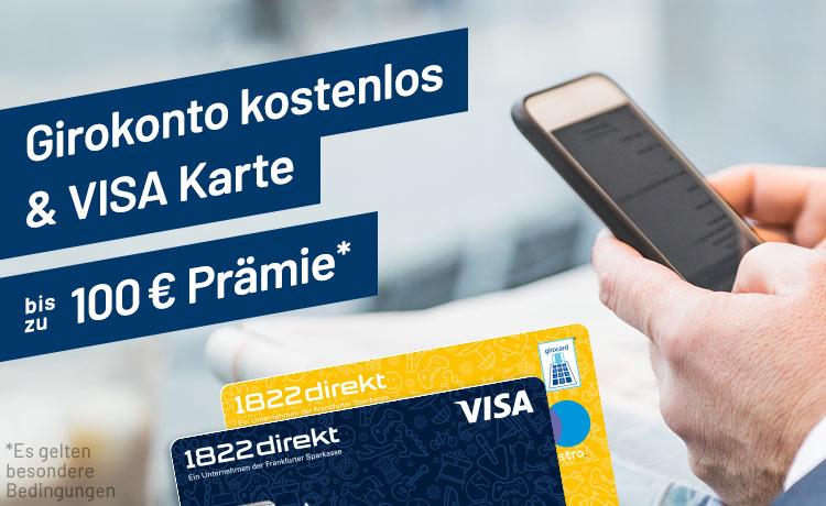Nur noch bis Ende Juli: 50 + 50 Euro Urlaubsgeld durch Girokonto der 1822direkt