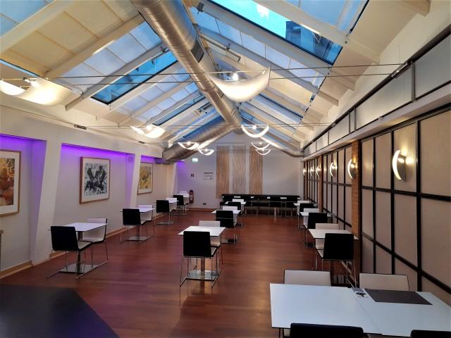 Frühstücksraum Mercure Düsseldorf - eines der betroffenen Geisterhotels