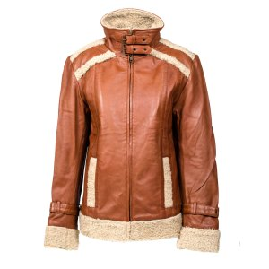 Daniel Fur Trim Leather Jacket