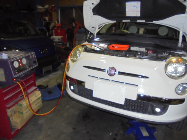 FIAT500 エアコン修理