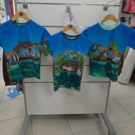 T-shirt animaux panthère, crocodile ,iguane et serpent