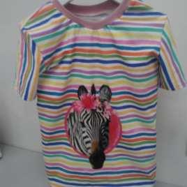 T-shirt animaux zèbre, girafe, autruche