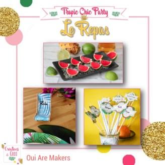 Tropic Chic Party - 4 - Le Repas