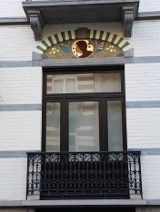 Décor Art Nouveau Bruxelles Linteau peint