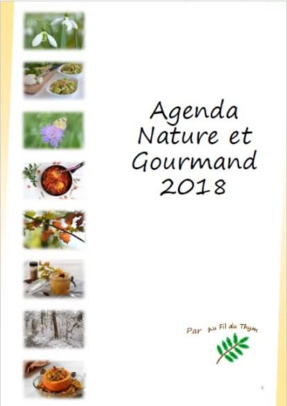 """""""agenda 2018 nature gourmand - page de garde"""