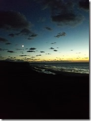 cap blanc nez coucher soleil