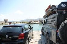 """""""Fähre"""" nahe der griechischen Grenze"""