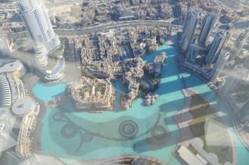 Dubai Fountain von oben