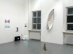 li. Florian Tenk, Nicolai Leicher (Videoinstallation), re. Alexandre Stetter