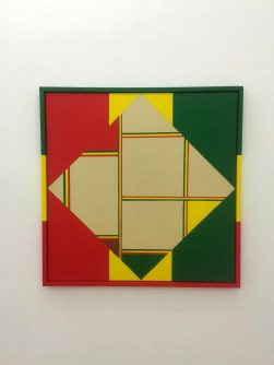 "Hank Schmidt in der Beek ""Composition with ites, gold, green and brown"""