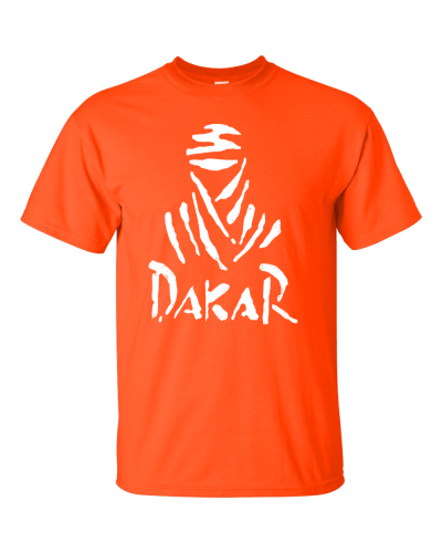 dakar logo on a t-shirt