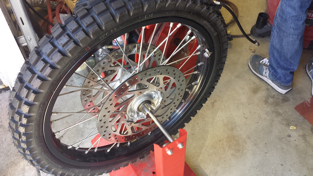 Balancing the front wheel
