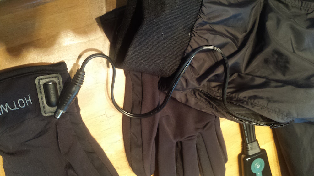 The gloves plug in right to the jacket