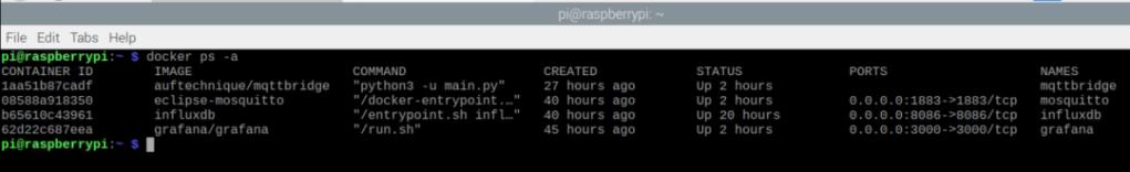 raspberry pi 4 mqtt server setup grafana