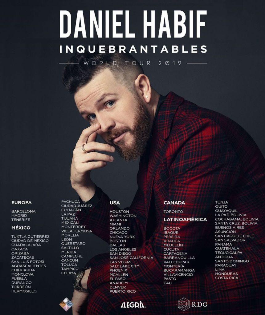 Daniel Habif World Tour Inquebrantables NUEVAS FECHAS 2020