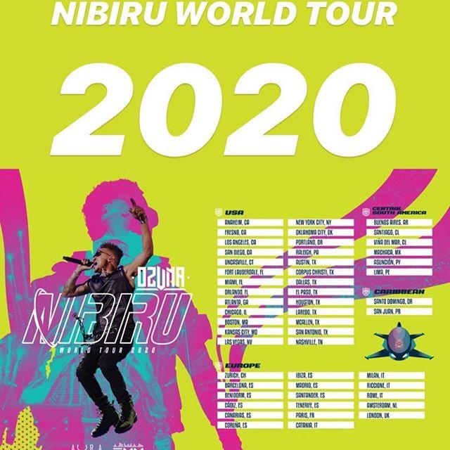 Ciudades del nabiru world tour de Ozuna