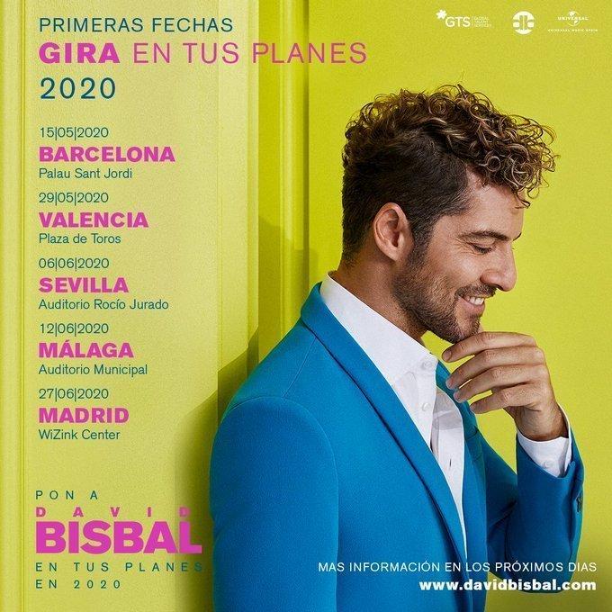 tour David Bisbal por España 2020