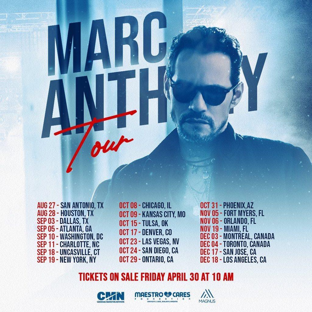 conciertos de marc anthony 2021