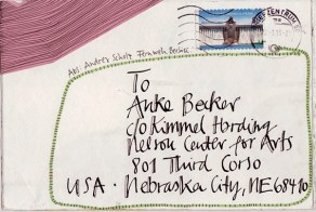 © postcard from ANDREA SCHOLZ, sent from Berlin, Germany