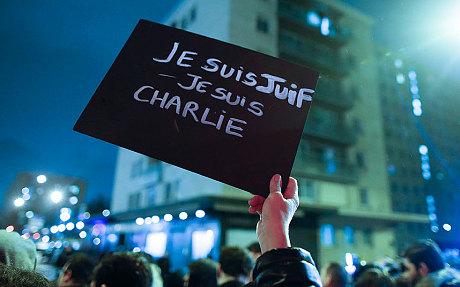 je suis juif,je suis charlie,paris 2015