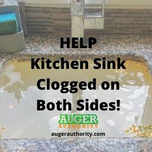 kitchen sink clogged on both sides 3