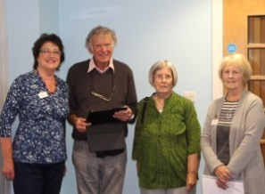 Alastair Sharp, the National U3A Adviser for German pictured with Joan Ratcliff, Norma Wardle and Joyce Coppock