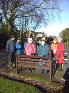A pause for rest at Holt Green - January 2016