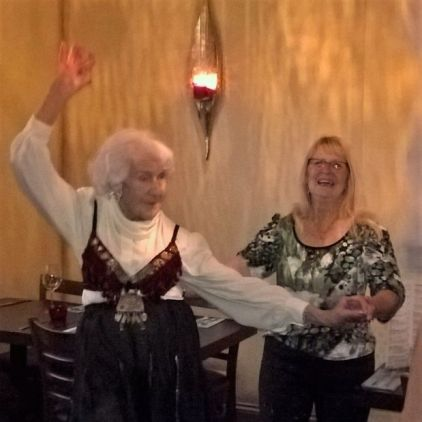 Julia celebrating her 94th birthday