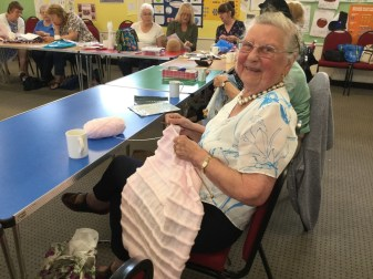 Crafty folk at the Textiles and Quilting Group