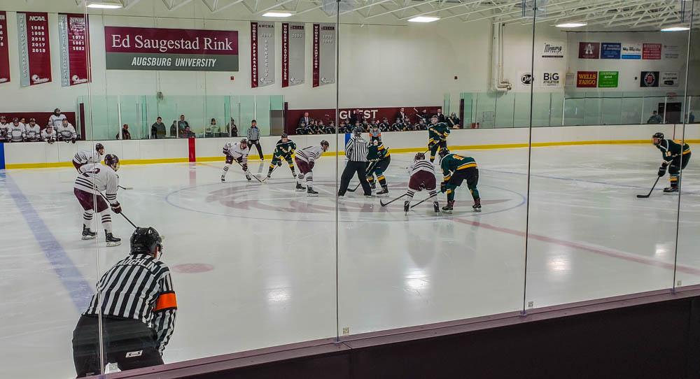 Men's hockey upsets defending national champs