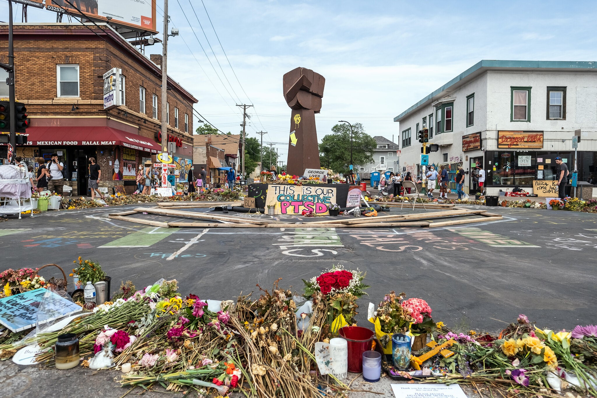 No Justice, No Street: Protect the George Floyd Memorial